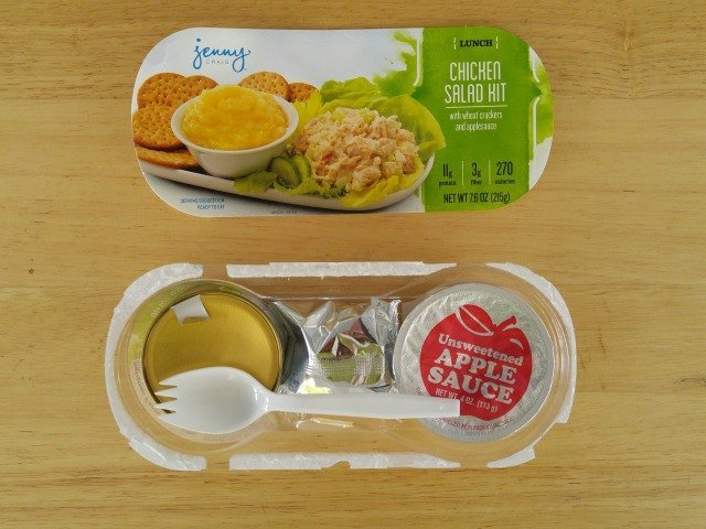 Packaging of a Jenny Craig Weight Loss Starter Kit Lunch