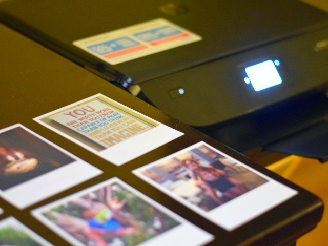 Printing photos on HP Sticky Paper