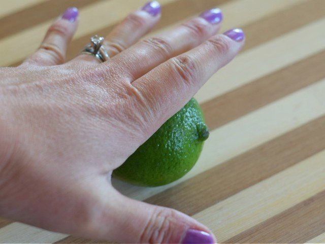Roll your lime to release juices