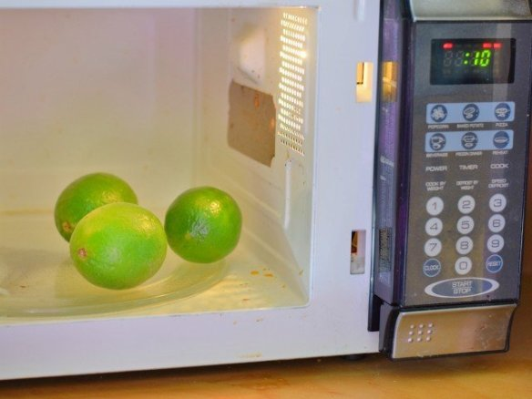 Warm limes in your microwave