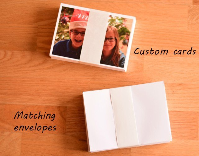 Zazzle custom holiday cards include envelopes