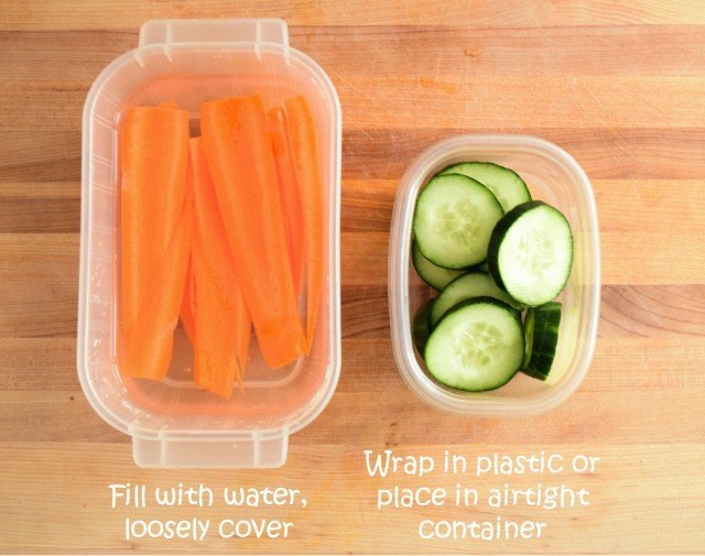 How to store carrots and cucumbers in the fridge
