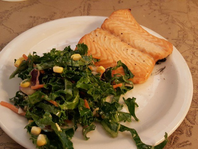 Kid's meal at Ted's Montana Grill includes grilled salmon