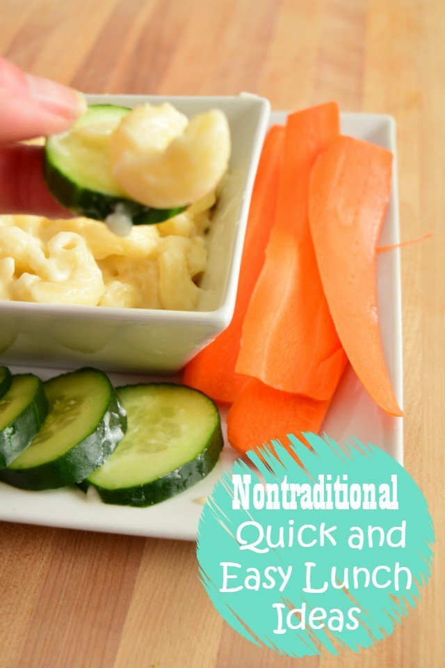 Nontraditional quick lunches and ideas reading in minutes