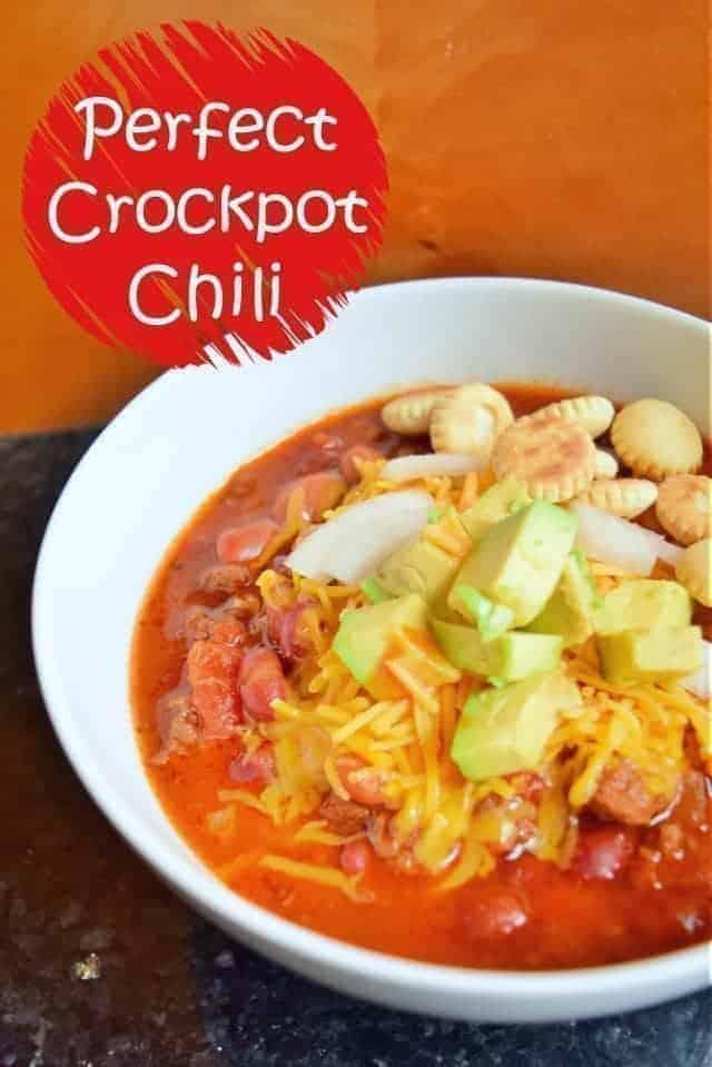 Perfect dump and go crockpot chili recipe