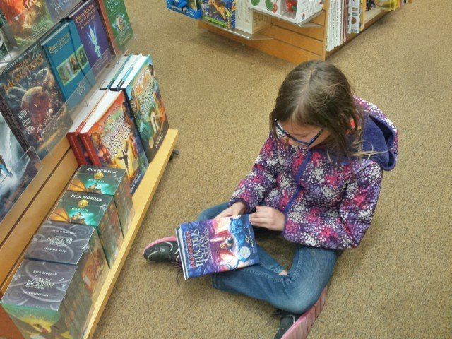 Reading challenge at the book store
