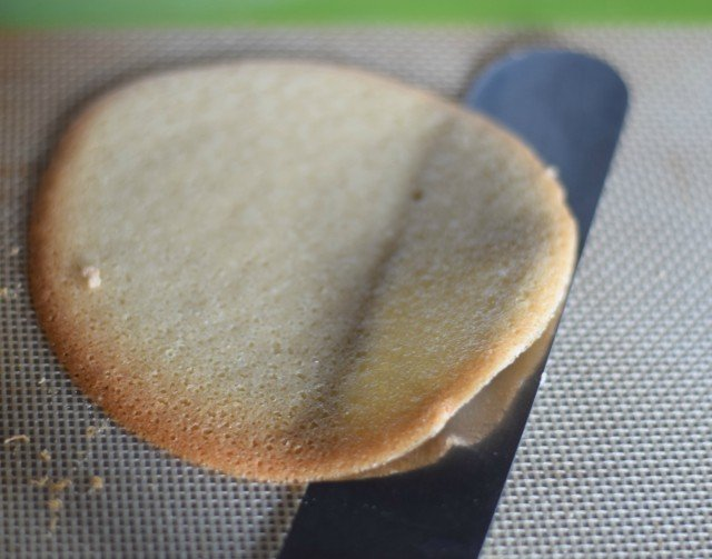 A spatula under a homemade fortune cookie is the easiest way to remove them from the baking sheet