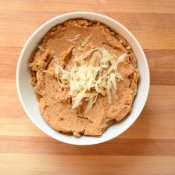 Bowl of homemade refried beans to enjoy