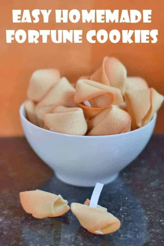 Easy Homemade Fortune Cookies Recipe
