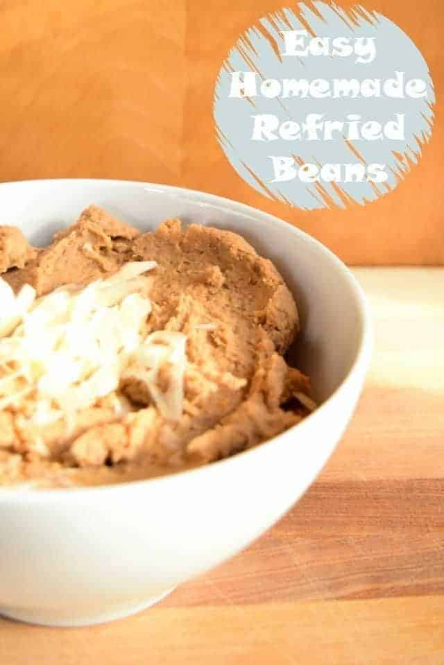 Easy Homemade Refried Beans Recipe to make your Mexican meals at home