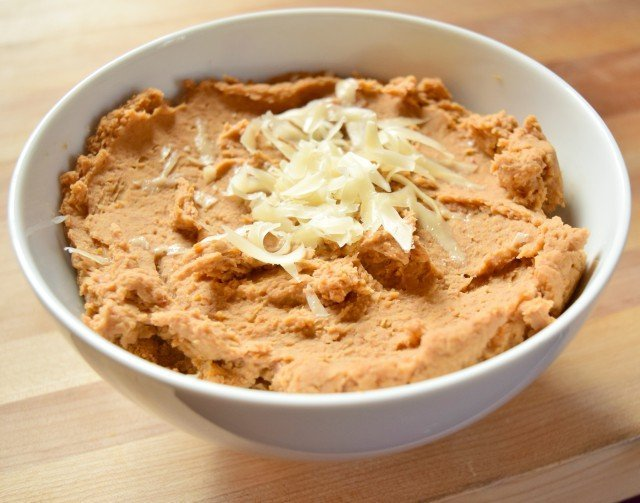 Homemade refried beans ready to enjoy for burritos or 7 layer dip or any delicious meal