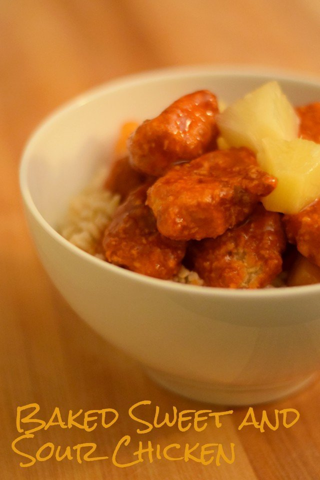 Simple baked sweet and sour chicken for Chinese New Year dinner
