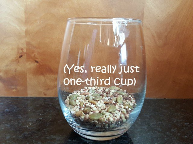 Add cereal to a bowl or cup