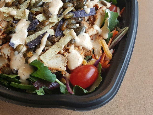 Closeup of the new Chick-fil-A Southwestern salad