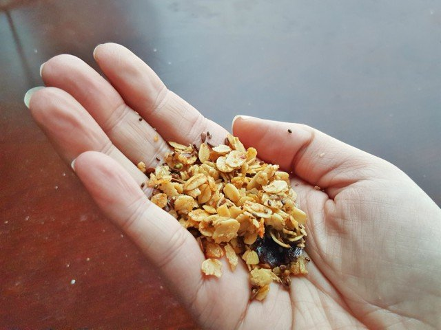 Enjoy homemade granola by the handful