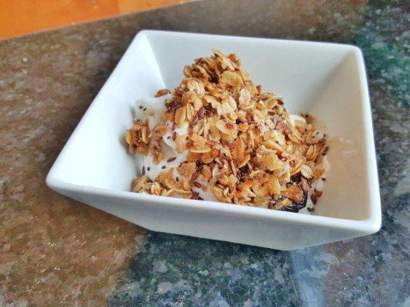 Serve granola over Greek yogurt