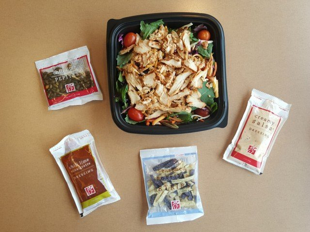 What you get with the Chick-fil-A southwest salad