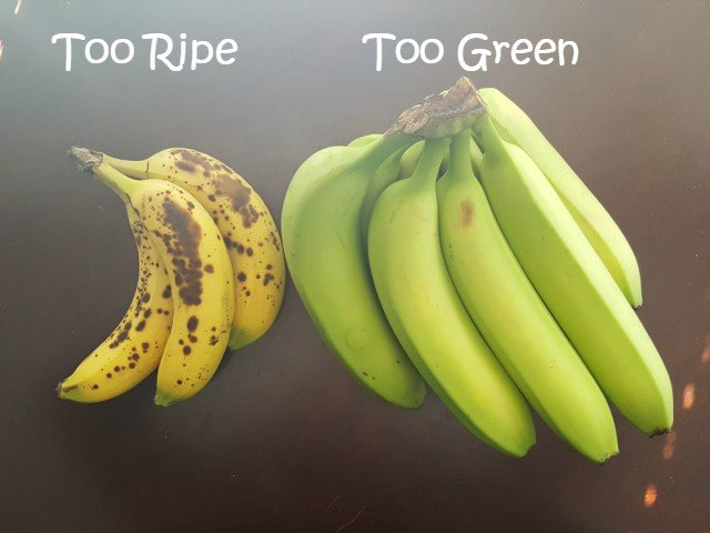 Issues with banana ripeness