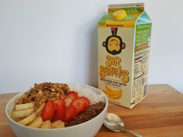 Protein Power Smoothie bowl with Sir Bananas Bananamilk