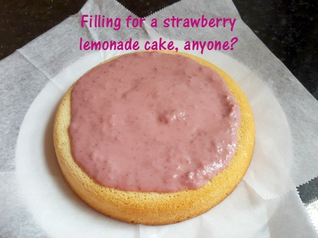 Use strawberry curd as a filling for strawberry lemonade cake
