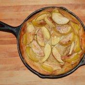 Homemade Dutch Apple Pancake