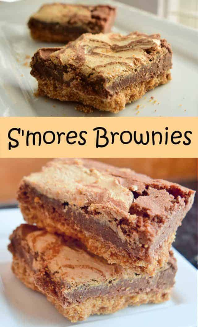 S'mores Brownies recipe chewy and sweet and delicious without the gooey mess of traditional s'mores