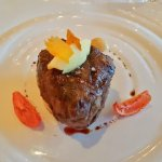 Broiled Filet Mignon at Carnival Steakhouse dinner