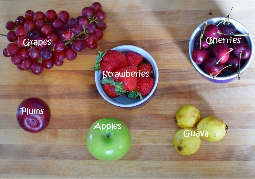 Fruit options for school lunches
