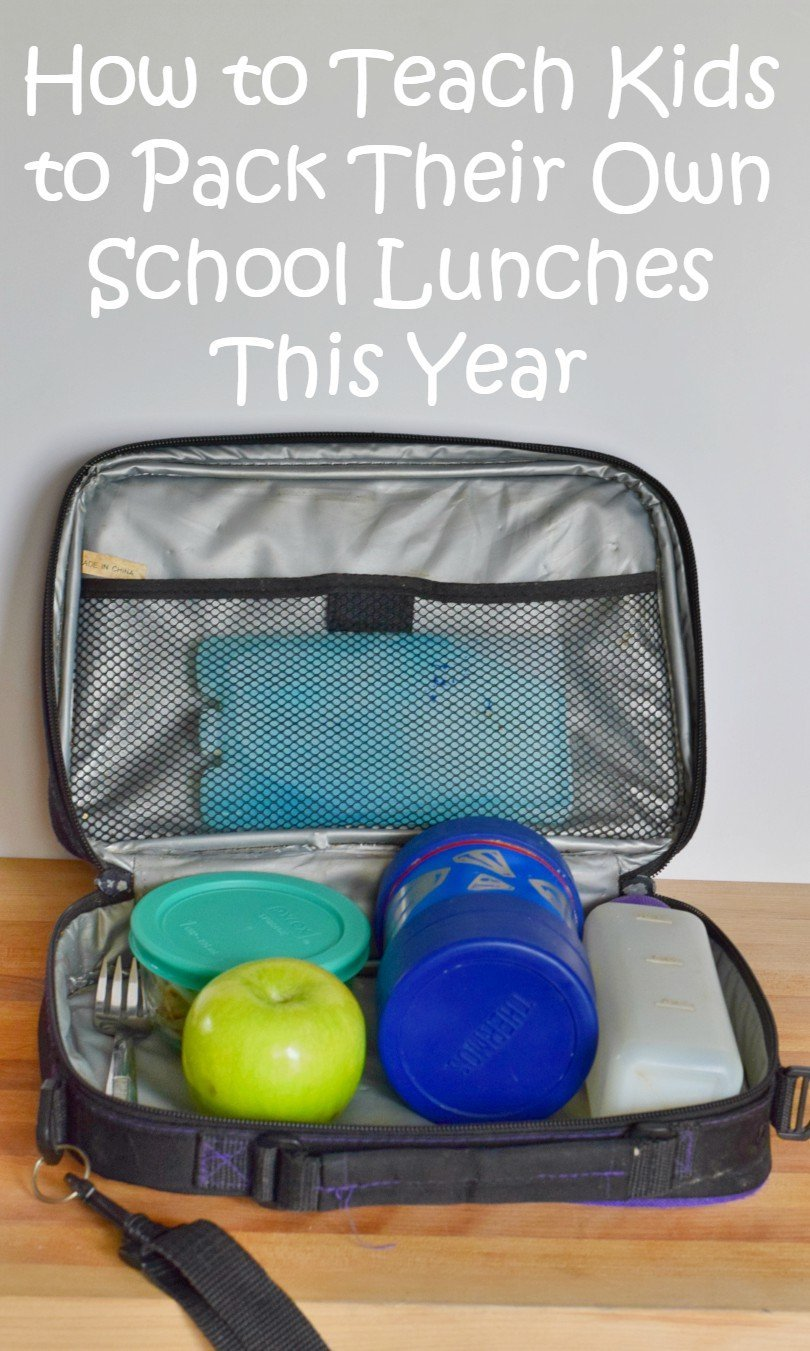 How to teach kids to pack lunches this school year. Free printable checklist and tips and tricks to get kids to learn independence and pack healthy school lunches they'll want to eat. Stop wasting food!