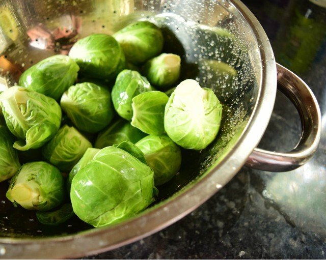 Washed and cleaned Brussels Sprouts