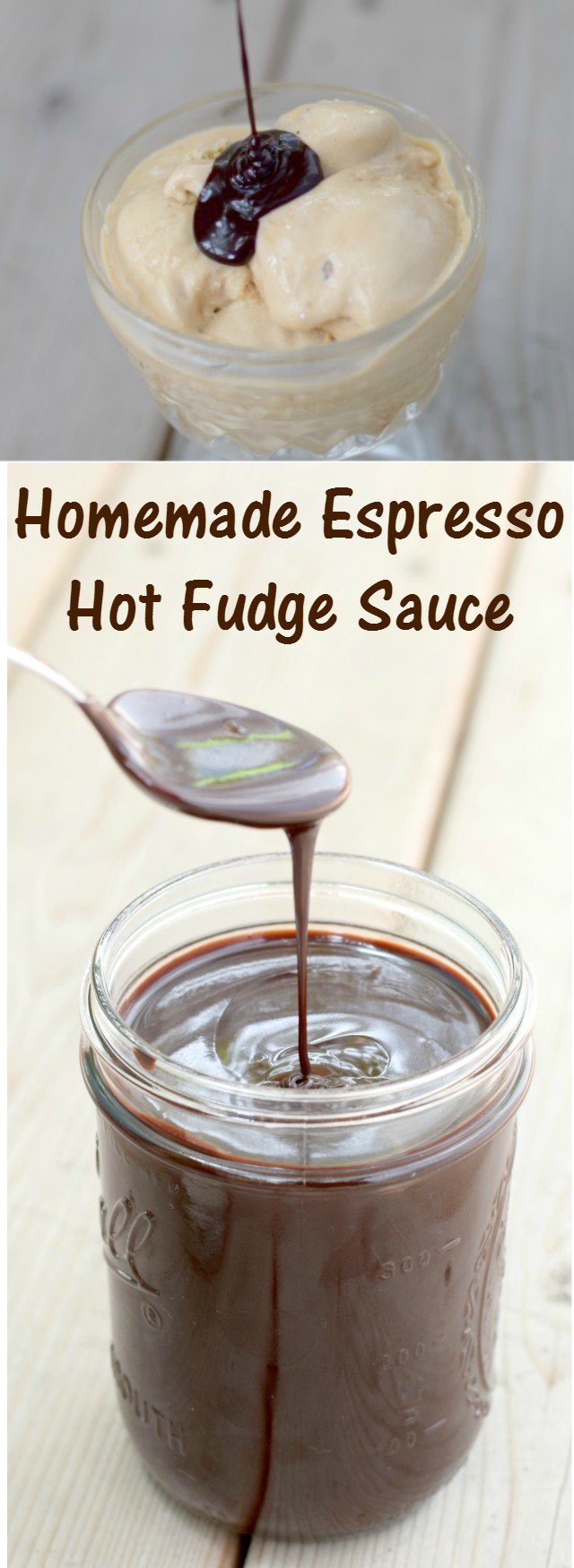 Delicious and easy recipe for a homemade espresso hot fudge sauce. An amazing dessert or ice cream topping, or just eat it from the jar for dessert. Ready in ten minutes!