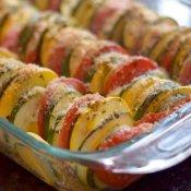 Italian ratatiouille recipe ready to eat