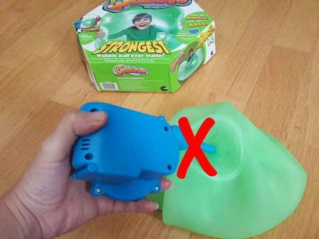 Why won't my Super Wubble ball inflate fully