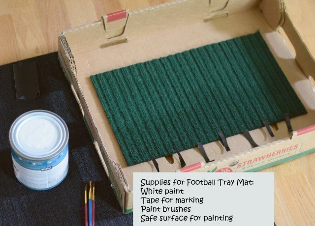 Supplies needed for DIY football tray