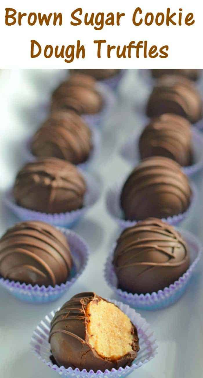 Make these easy egg free brown sugar cookie dough truffles to give to friends and family or for a perfect elegant dessert. This recipe is ready in under an hour and requires no special tools.