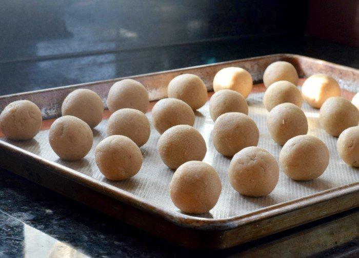 Roll dough into smooth balls