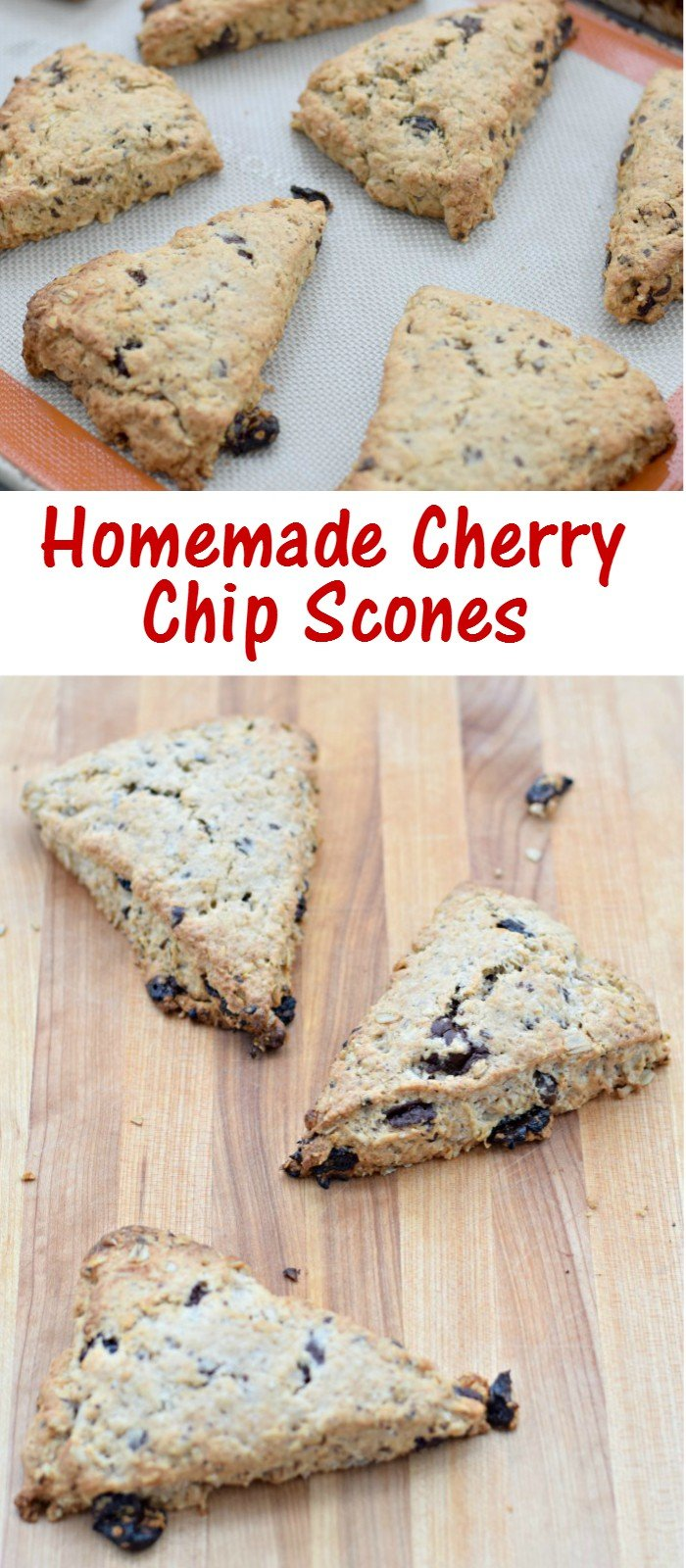 Delicious and easy cherry chip scones recipes. Make them in your food processor. This is a perfect recipe and easy to make from scratch