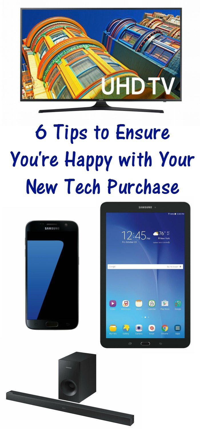 6 Tips to ensure you're happy with your new tech purchase. Check out what you need to know and do before you buy your next tech gadget.