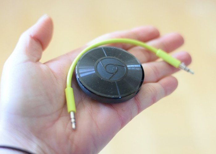 Tiny size of Google Chromecast audio