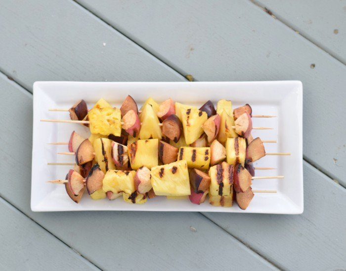 Grilled fruit kebabs recipe