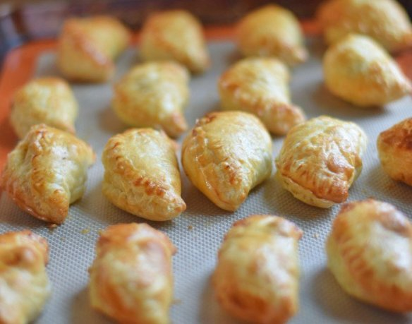 Puff pastry empanadas fresh from the oven