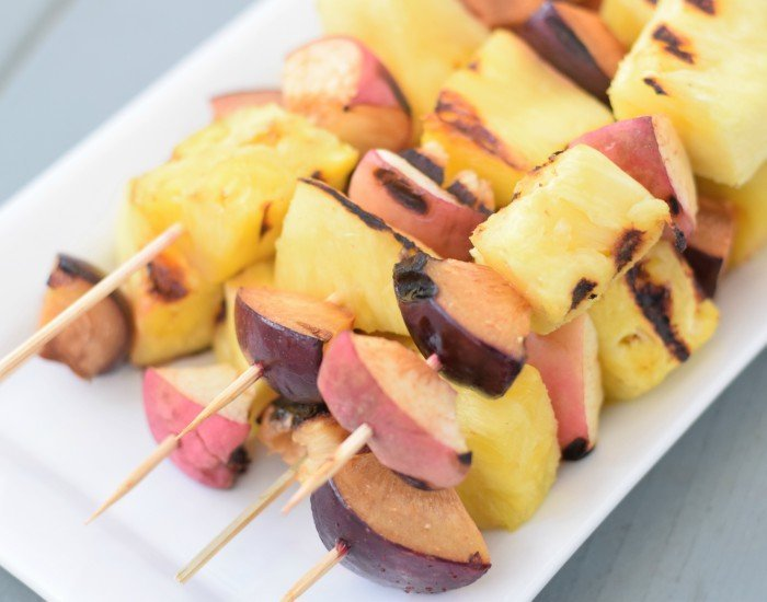 Simple grilled fruit kebab recipe