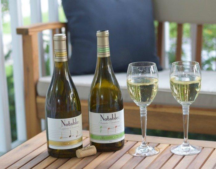 Glasses of Notable Wines Crisp Chardonnay