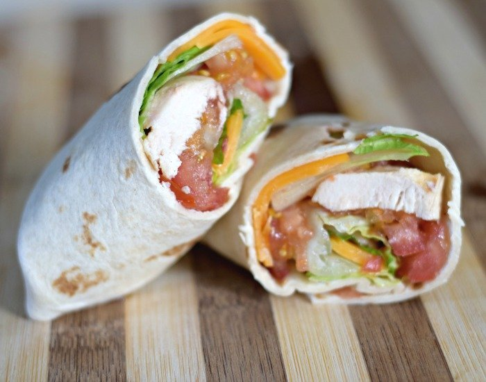 Simple and easy chicken taco wraps