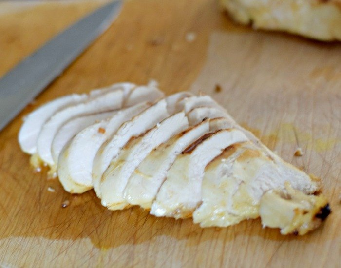 Slice marinated lime grilled chicken