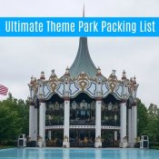 theme park packing checklist printable
