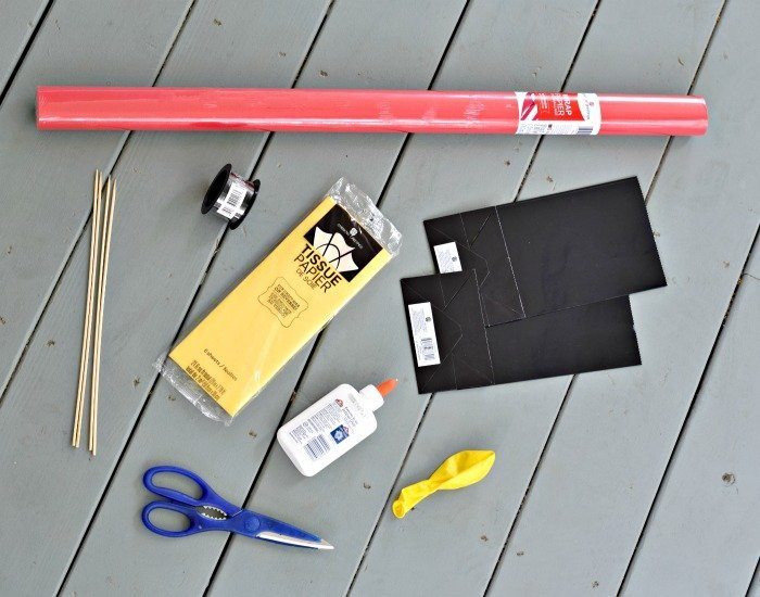 Materials for DIY hot air balloon centerpiece