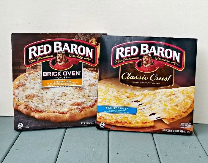 Red Baron Pizzas for dinner