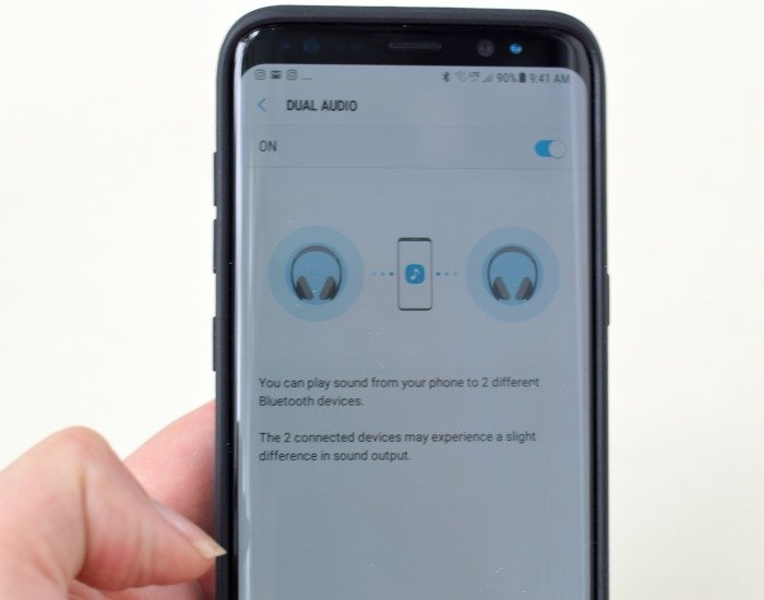 Setting up Dual Audio on Samsung Galaxy S8