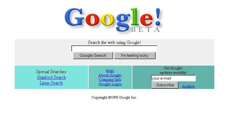 Así era Google cuando nació